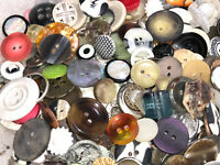 SWEET! 1000 pcs MIXED LOT of OLD-VINTAGE & NEW Buttons ALL TYPES & SIZES