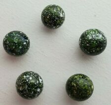 MINT 5 VINTAGE BEAUTIFUL SPECKLED CONFETTIE STARDUST MARBLES 1970S 1980S