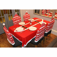 Nordic Reindeer Pattern Christmas Xmas Chair Covers Table Decoration
