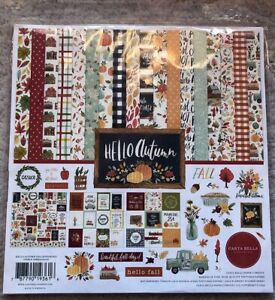 Carta Bella Hello Autumn 12x12 Collection, Paper and Sticker Sheet