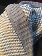 Lululemon Allegro Scarf Gray White Stripe Wrap Rare Only One Online Ruffled Edge