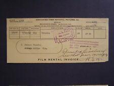 Movie Billhead Assoc 1st 1923 Trouble Jackie Coogan Wallace Berry Gloria Hope