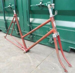 """21 1/4"""" Rival of Norwich frame & forks, vintage steel"""