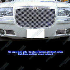 Fits 05-10 Chrysler 300C Stainless Mesh Grille Combo