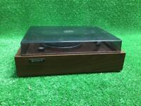 VINTAGE SONY PS-110 TURNTABLE Japan Wood Record Player Vinyl Free Fast Ship