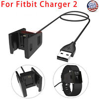 Charger For FITBIT CHARGE 2 USB Charging Cable Activity Wristband Cord Wire NEW