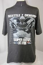 NFL Super Bowl XLVIII 48 Feb 2 2014 Seahawks Broncos Graphic Print T Shirt Men L