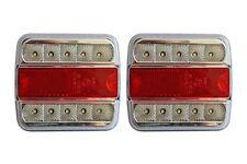 2 X 12v 24v LED Rear Indicator Stop Number Plate Lights Lamps Trailer Truck /088