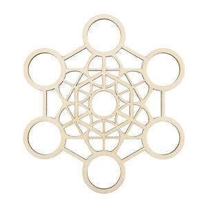 Metaphysical Flower Of Life Sacred Geometry Wooden Crystal Healing Grid Wall Art