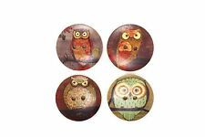 Owl Wooden Sewing Button 30mm 50pcs