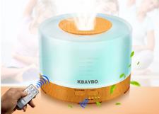 KBAYBO 500mlwood Ultrasonic Air Humidifier led light Essential Oil RemoteControl