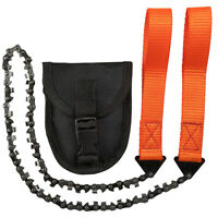 Carbonstahl Zähnen Survival Handkettensäge inkl. Gürteltasche für Camp Outdor