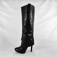 NINE WEST boots, NWINTHEHOUSE leather, tall, black, size 6.5