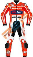 Ducati Motorcycle Racing leather suit Custom Size Suit Motorbike MOTOGP Cowhide