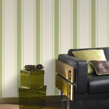 Superfresco Orla Stripe Green/Gold Metallic Textured Wallpaper (Was £16)