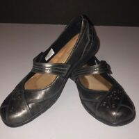 Rockport Cobb Hill Collection Womens Petra Mary Jane Shoes Black Leather 8.5 M