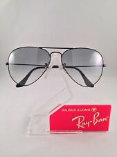Vintage Ray Ban Bausch and Lomb Black Aviator Gray Ultra gradient Fantasees 58mm