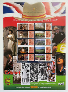 Ltd ed of 200 Bletchley Park PO 300 years of going to the cricket Smiler sheet