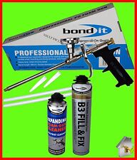 Bond It Expanding Foam, Applicator Gun and Foam Cleaner 3 in 1