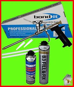 Bond It Expanding Foam, Applicator Gun and Foam Cleaner 3 in 1