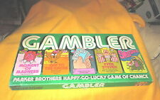1977 Parker Brothers Board Game Gambler Lucky Game Of Chance Very Good Condition