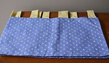 Fine Creek Bedding Kid's Room Curtain Valance Tab-Top Cotton Lined 80 x 15 Blue