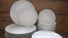 Tafelservice für 12 Personen 36 Teile Porzellan weiß coup