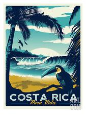 Costa Rica Travel Art Poster Print by Matthew Schnepf, 12x16