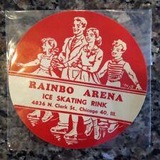 CHICAGO Ice Skating Decal Sticker 1940s RAINBO ARENA ICE RINK