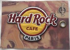 Hard Rock Cafe 2018 PARIS IRON-ON CLOTH PATCH Brand New ON CARD