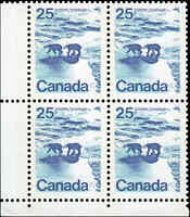 Mint Canada 25c VF 1972 TAGGED NF Block of 4 Scott #597 Stamps Never Hinged
