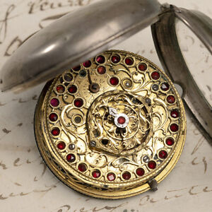 Verge Fusee Antique Pocket Watch MONTRE COQ SpindelTaschenuhr