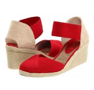 RALPH LAUREN Charla Women's Red Espadrilles Shoes Size 40 EU