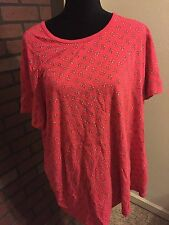 """28W Plus Woman Within 60"""" Bust 32"""" Length Shirt Top Blouse Knit"""