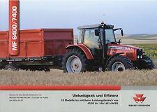 Prospekt Massey Ferguson MF 6400 7400 9 06 2006 Trecker Traktor Schlepper tracto