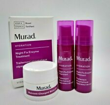 Murad Night Fix Enzyme Treatment travel size Lot of 2 & Nutrient Charged Gel