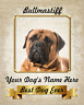Bullmastiff Dog Personalized Art Home Decor Printed on 8X10 Photo Picture