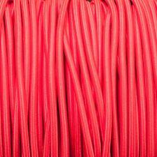 Rosso Rotondo Intrecciato Tessuto Cavo MEX 0.5 mm per tutta l'illuminazione dell' uso