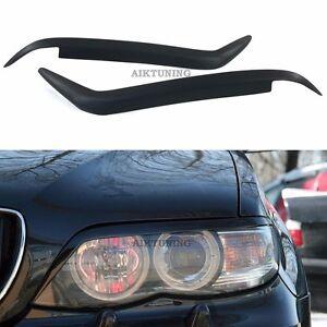 Eyebrow Set Lamp Spoiler Kit Eye Lid Spoilers (Fits BMW X5 E53 Facelift)