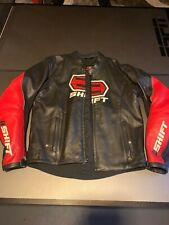 Shift Armored Motorcycle Jacket Leather Men's Medium Full Zip