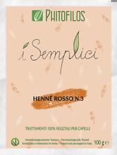 Phitofilos Hennè Rosso N.3 puro Lawsonia Henne ramato intenso Arte d'Erbe 100g