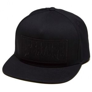 Creature REVERSE PATCH Skateboard Snapback Hat BLACK
