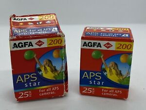 2x25 exp AGFA APS Star camera film AS200 Expired 2005