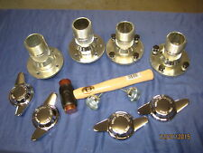 MG MG ROADSTER &  GT TUBE AXLE WIRE WHEEL CONVERSION KIT HUBS SPINNERS   ***