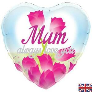 Mum Always Love You 18 Inch Foil Balloon - Mothers Day or Any Occasion