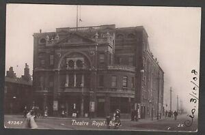 Postcard Bury nr Bolton Lancashire the Theatre Royal posted 1908 RP