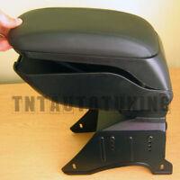 Leather Car Armrest Arm Rest Center Console Storage Compartment - Universal