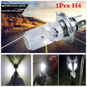 1Pcs Motorcycle Scooter LED H4 Hi Lo Light Bulb Headlight Lamp 1400LM 6000K 20W