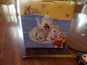 PETER RABBIT BEATRIX POTTER TEA SET 10 PIECE