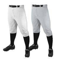 Champro Triple Crown Knicker Adult Men's Baseball Short Pant - Grey & White